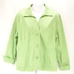 COLDWATER CREEK Jacket Green Long Sleeve 🌻